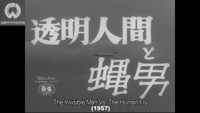 画像: The Invisible Man vs The Human Fly (1957) | Quick Review 宇宙線研究の過程で発見された透明光線によって透明人間となった刑事と、旧日本軍の開発した薬品によりハエの大きさになった殺人犯・蝿男との戦いを描く youtu.be