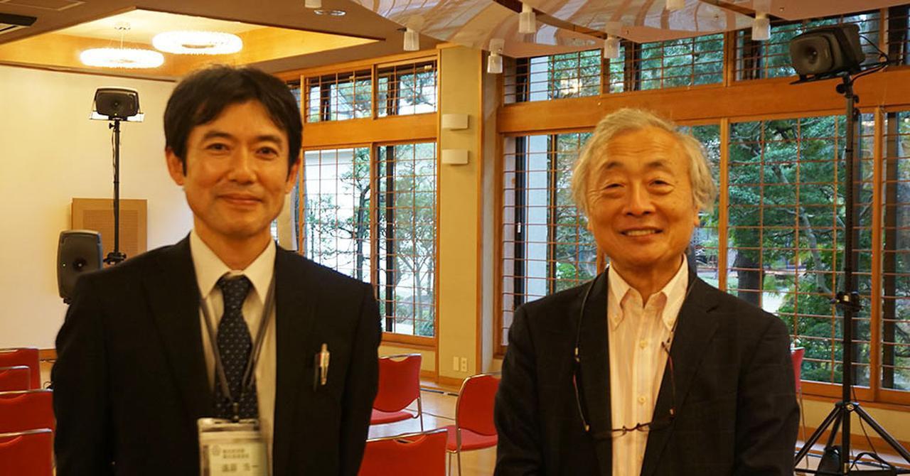 画像: 熱海市役所 観光建設部 観光経済課 観光推進室 室長の遠藤浩一さん(左)