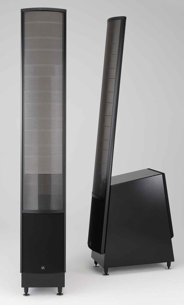 画像: Speaker System マーティン・ローガン ElectroMotion ESL X ¥800,000(ペア) ●型式:2ウェイ3スピーカー・バスレフ型●使用ユニット:ウーファー・20.3cmコーン型×2、トゥイーター・エレクトロスタティック型(W220×H1,020mm)●クロスオーバー周波数:400Hz●感度:91dB/2.83V/m●インピーダンス:6Ω●寸法/重量:W238×H1,503×D526mm/23.6kg