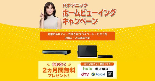 画像: ネット動画2カ月無料プレゼントキャンペーン | キャンペーン情報 | ブルーレイ・DVDレコーダー DIGA (ディーガ) | Panasonic