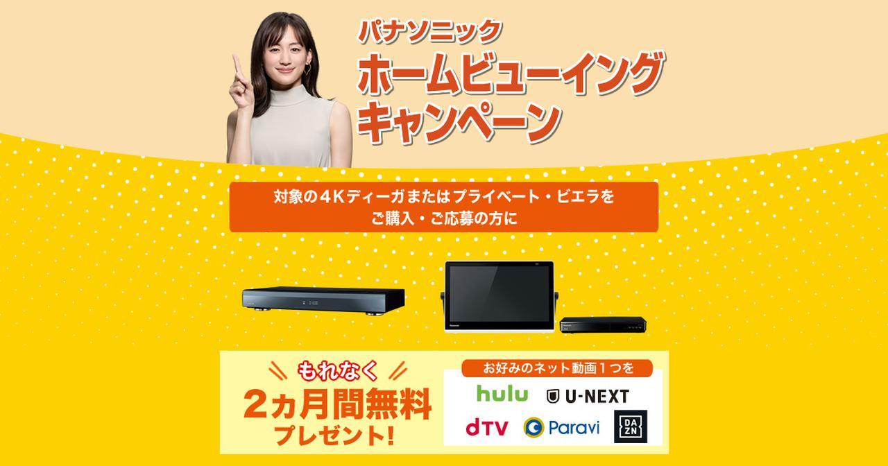 画像: ネット動画2カ月無料プレゼントキャンペーン   キャンペーン情報   ブルーレイ・DVDレコーダー DIGA (ディーガ)   Panasonic