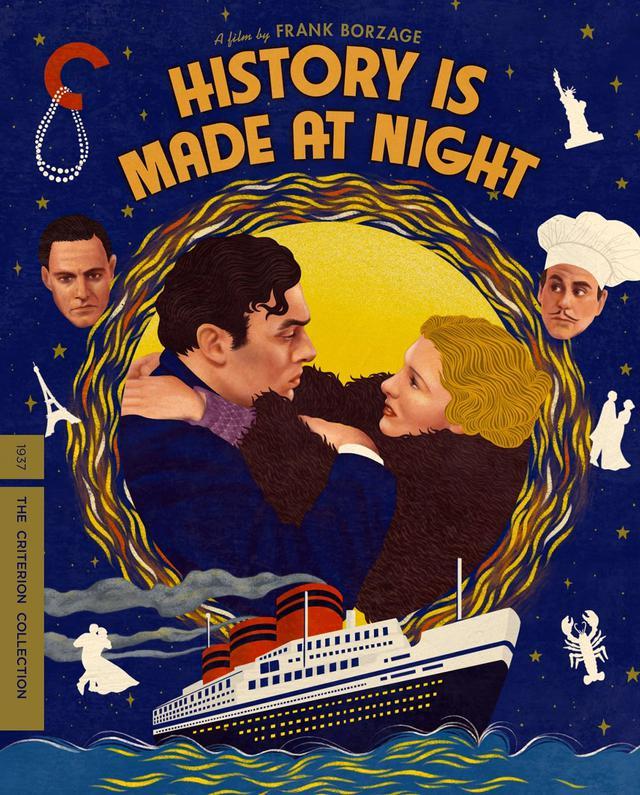 画像: 歴史は夜作られる/4月13日リリース 1937年/監督フランク・ボーゼージ/出演シャルル・ボワイエ, ジーン・アーサー, コリン・クライヴ NEW 4K RESTORATION OF THE FILM, with uncompressed monaural soundtrack 海運王ブルースの妻アイリーン(アーサー)は、嫉妬深い夫に嫌気がさしてパリへと逃れる。そこでレストランのウェイター(ボワイエ)と出会い、恋に落ちるが・・・。洗練された一級品のメロドラマ。