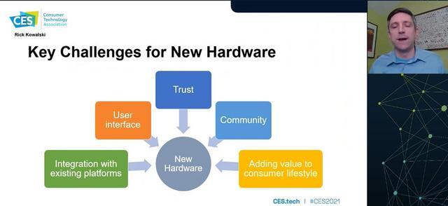 画像: Consumer Adoption of New Hardware Conference Session Thursday, January 14。今後のヒット商品の条件