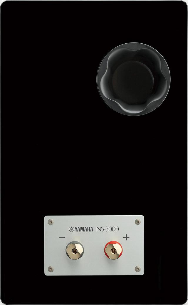 画像: NS-3000の背面。スピーカー端子はシングルワイヤリング対応