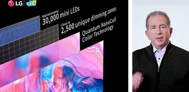 画像: LGエレクトロニクスは「QNED Mini LED TV」を紹介。30,000のLED、2,500のエリア数