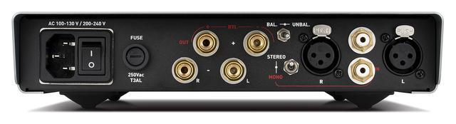 画像: AMG STAの背面。モノーラルモード時の接続端子が一目でわかるように色とラインで示している