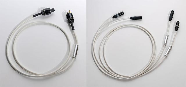 画像: 左は「Quest」付属の1.5m電源ケーブルで、右は別売のWestminsterLab製XLRバランスケーブル「ULTRA」シリーズ。バランスケーブルは近日発売予定
