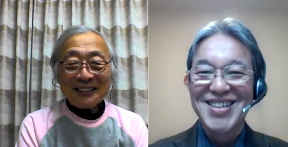画像: 今回のインタビューもリモートで行っている。右がソニー ホームエンタテインメント&サウンドプロダクツ株式会社 HES商品戦略室部門長の長尾和芳さん