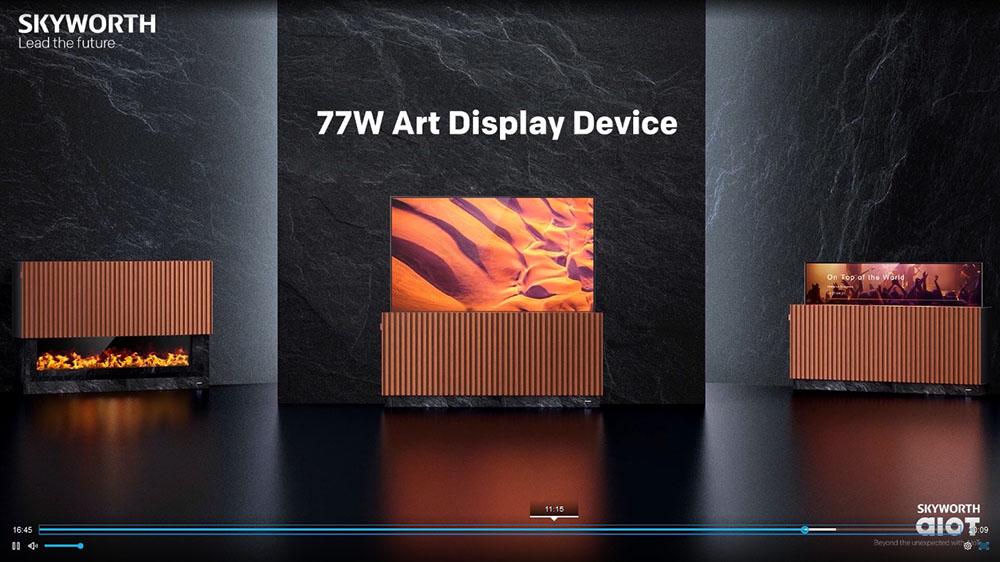 画像2: 【麻倉怜士のCES2021 レポート13】CESではテレビシーンを見るのがひとつの楽しみ。スカイワースのデザインテレビはデジャヴ?