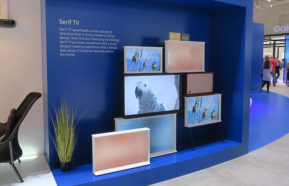 画像: サムスンエレクトロニクスの「SERIF TV」(2016年IFAで撮影)
