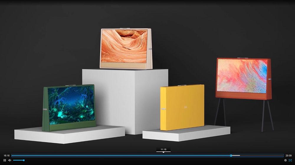 画像1: 【麻倉怜士のCES2021 レポート13】CESではテレビシーンを見るのがひとつの楽しみ。スカイワースのデザインテレビはデジャヴ?