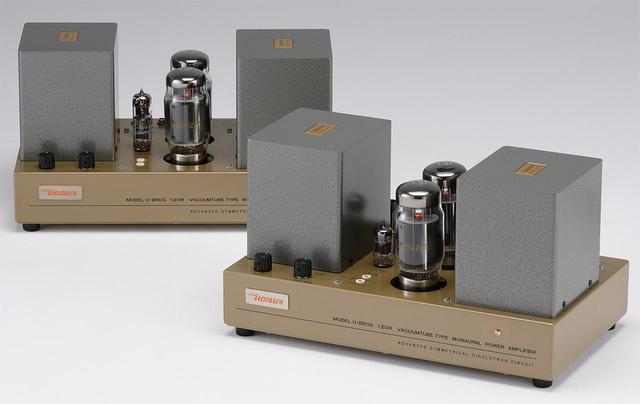画像: ウエスギ U・BROS120R ¥1,180,000(ペア) ●出力:90W ●使用真空管:12AX7A(GE)、6CG7(Electro Harmonix)、KT120(Tung・Sol)×2 ●寸法/重量:W355×H196×D210mm/17kg