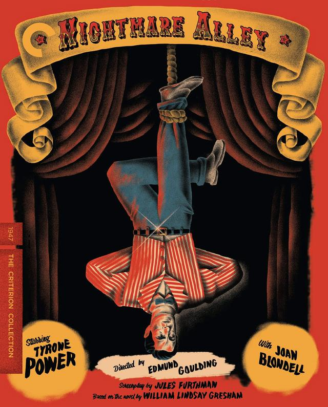 画像: 悪魔の往く町/5月25日リリース 1947年/監督エドマンド・グールディング /出演タイロン・パワー, ジョーン・ブロンデル NEW 4K RESTORATION OF THE FILM, with uncompressed monaural soundtrack 見世物小屋で働くようになった詐欺師が、偽の読心術師の女性とそのアルコール依存症の夫とチームを組んで詐欺を働くが、いつしか詐欺師は女に操られていくことに。ギレルモ・デル・トロ監督作としてリメイク。