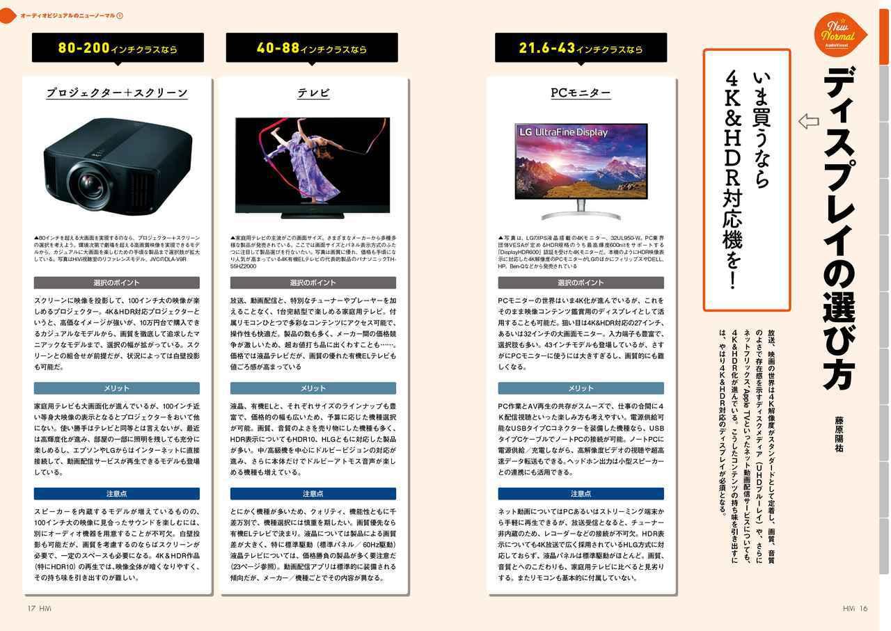 画像: 映像の出力機=ディスプレイはユーザーによってさまざま。PCモニターを使ってもいいし、テレビを使ってもいい。4K映像出力対応のプロジェクターの価格がこなれてきていることも見逃せない動きだ。それぞれに明確な特徴があることを認識しておきたい
