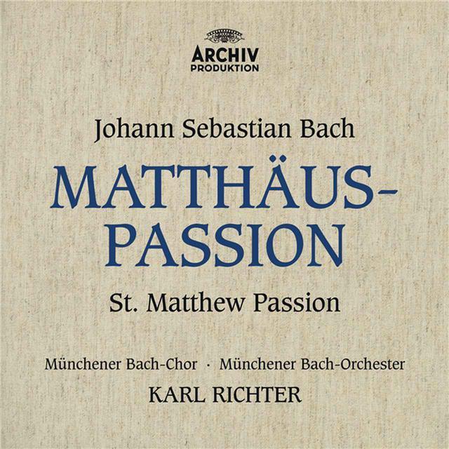 画像: J.S.バッハ:マタイ受難曲 BWV244/イルムガルト・ゼーフリート, ヘルタ・テッパー, エルンスト・ヘフリガー, ディートリヒ・フィッシャー=ディースカウ, ミュンヘン・バッハ管弦楽団, カール・リヒター, ミュンヘン・バッハ合唱団, Munich Chorknaben