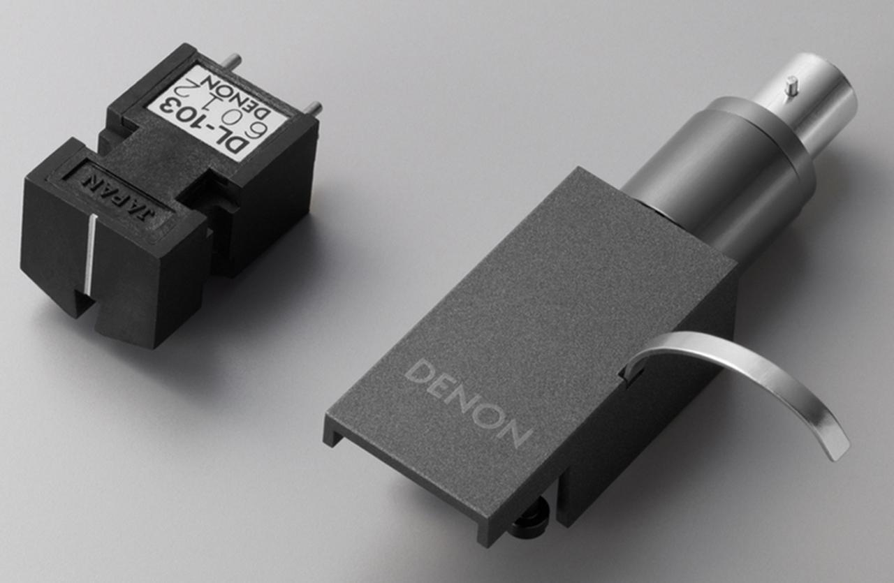 画像: ↑DL-103専用のヘッドシェルは樹脂製で6gと軽量。天板部にブランドロゴが印字される。