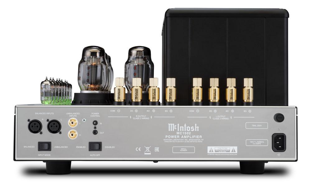 画像3: McIntosh、記念モデル「MC2152」の後継となる真空管パワーアンプ「MC1502」、モノーラル仕様の半導体パワーアンプ「MC830」を発売