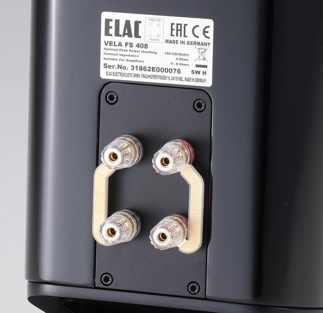 画像: スピーカー端子はバイワイヤリング接続に対応。今回は、低域の端子にシングルワイヤリング接続して視聴を行なった