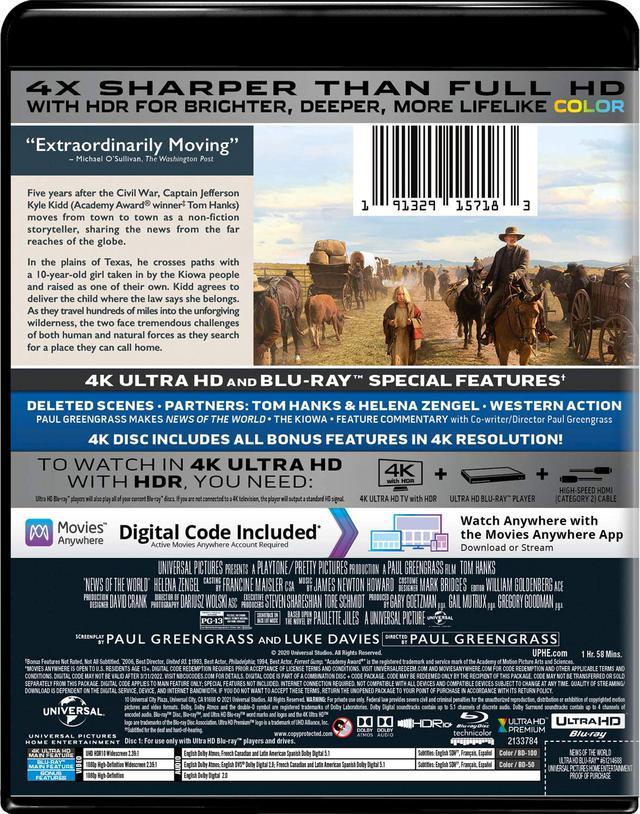 画像2: トム・ハンクス主演ウエスタン『この茫漠たる荒野で』【海外盤Blu-ray発売情報】