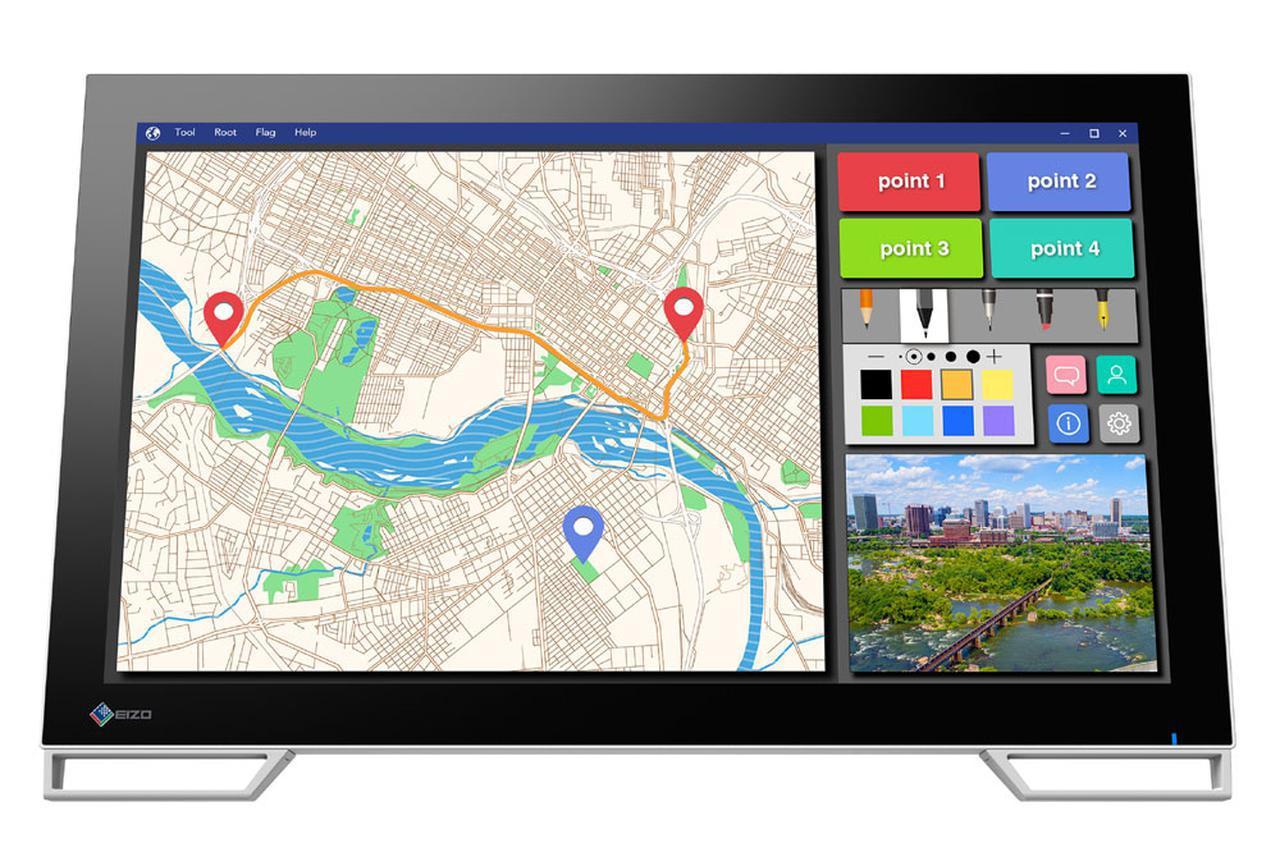 画像: EIZO、公共施設でのインターフェイスに便利な、10点マルチタッチ対応21.5型タッチパネル液晶モニター「DuraVision FDF2182WT」を5月に発売