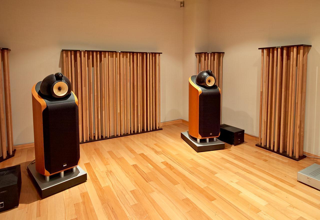 画像: ↑柱状音響拡散機構:AGS(Acoustic Grove System)として、多くのオーディオファイルの支持を得ている