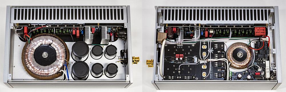 画像: 左は天板を外した状態で、右は底面側。本体シャーシには宇宙航空グレードの6063アルミ合金を採用