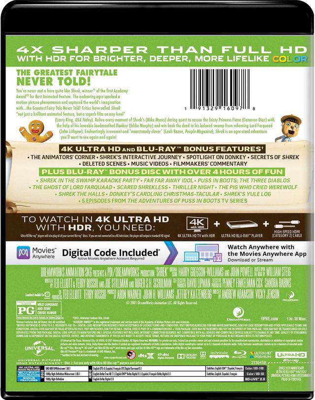 画像3: ドリームワークス製作メガヒットアニメ『シュレック』【海外盤Blu-ray発売情報】