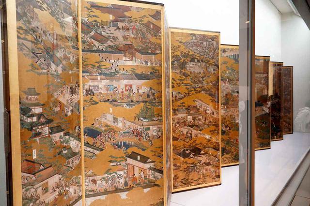 画像: ▲国宝「洛中洛外図屏風 舟木本」の本物