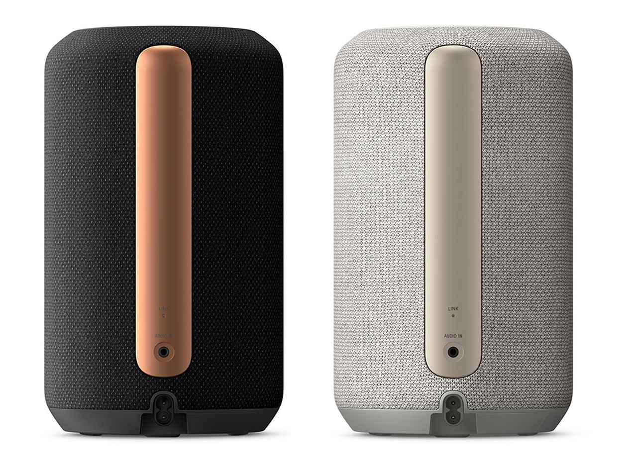 画像: SRS-RA3000の背面。3.5mmのアナログ音声入力と電源コネクターを備えている