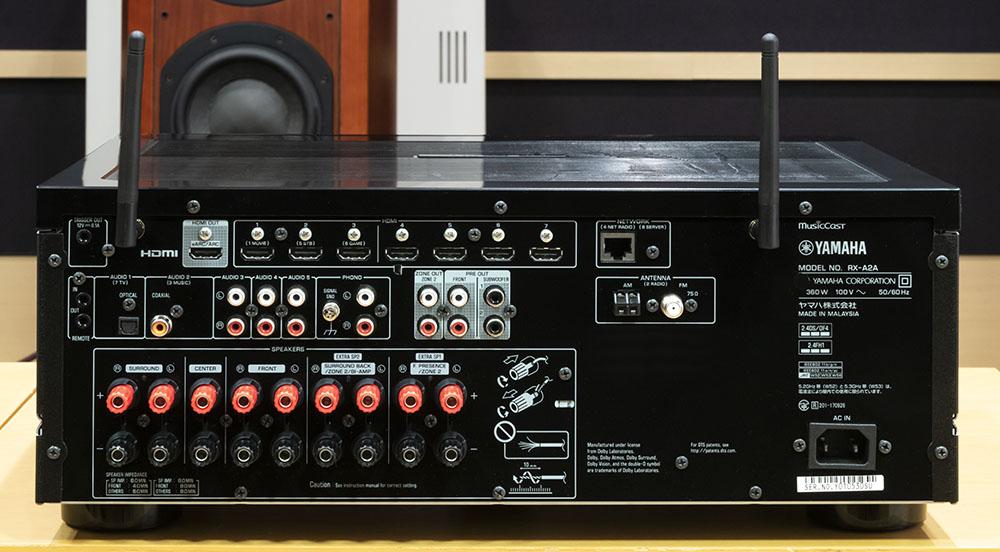 画像: HDMI入力は7系統を装備する。一列に並んだ左から2〜4番目が4K/120pや8Kの信号に対応している(左端はHDMI出力)