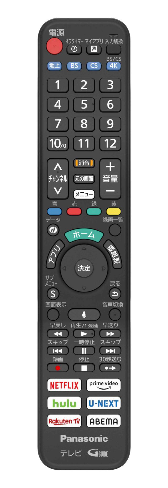 画像: リモコンはBluetooth仕様となり、ネット動画をワンタッチで視聴できるように、6つのダイレクトボタンも装備された
