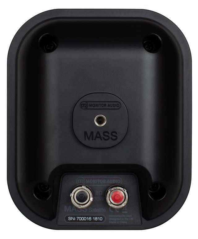 画像: MASS-2G Satelliteは¥18,000(1本)+税。壁掛け/天井吊り下げ用の専用マウント「Speaker Mount」(¥4,000+税/1本)、「FIX-M」(¥9,000+税/1本)も用意されており、オーバーヘッドスピーカーとして使えばMASS-2Gシリーズでイマーシブオーディオの再生もできる。スピーカー端子はシングルワイヤリング接続仕様だ