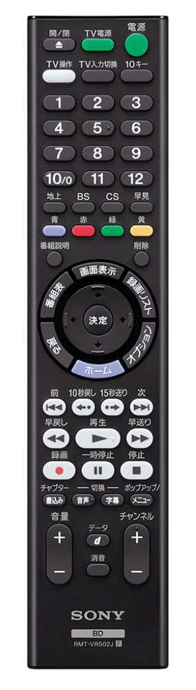 画像: FBシリーズの新リモコン。「12」の下に「早見」ボタンが新設された