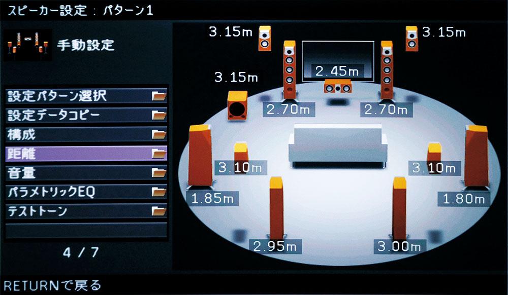 画像: モンキー・パンチシアターのYPAO測定結果。スピーカー配置は7.1.4のドルビーアトモス用だった