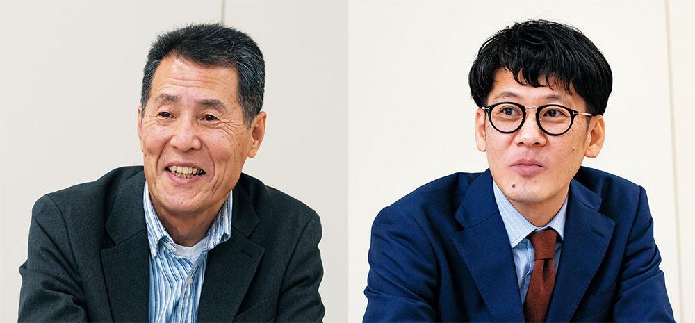 画像: 取材に協力いただいた方々。左は株式会社ヤマハミュージックジャパン AV・流通営業部 マーケティング課 広報担当の安井信二さんで、右は同 AV・流通営業部 マーケティング課 主事 AVコンポ・テレビオーディオ商品担当の手塚 忍さん