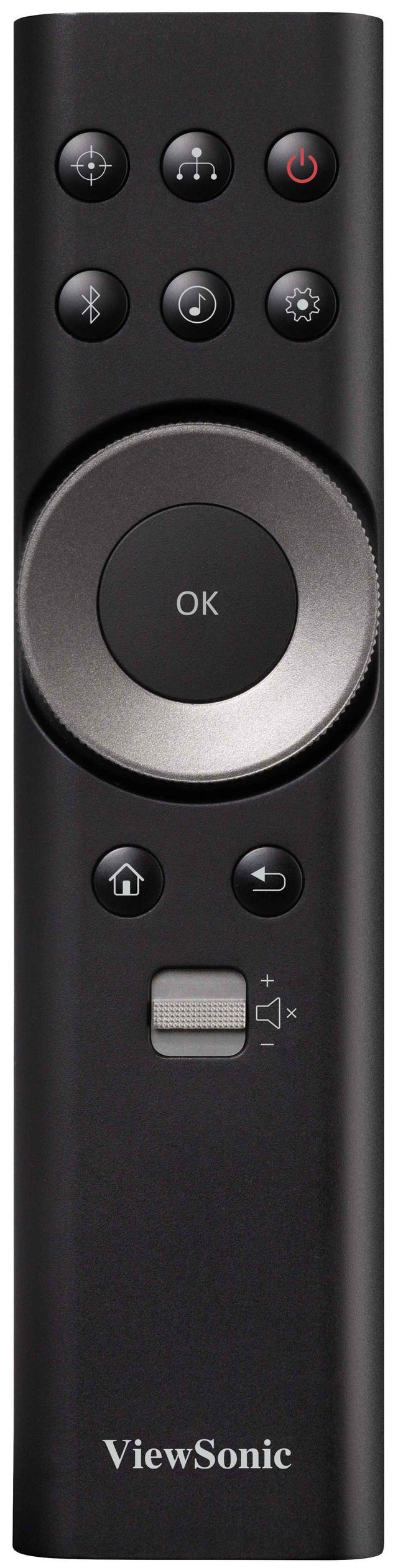 画像: リモコン中心のダイヤルはカーソル移動やフォーカス合わせ時に便利。上の6つのボタンは、左上がフォーカス調整、その右がHDMIのセレクターと、よく使う機能のショートカットになっている