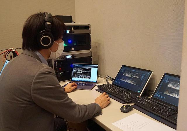 画像: Live Extremeの送信システム。コルグの大石さんがつきっきりで作業していた