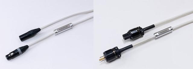画像: 試聴で使った、STANDARDシリーズ「XLR-ST-C-2.0」は¥825,000(税込、2.0m)。右はプリアンプ「Quest」やパワーアンプ「Rei」に付属している電源ケーブル(1.5m)