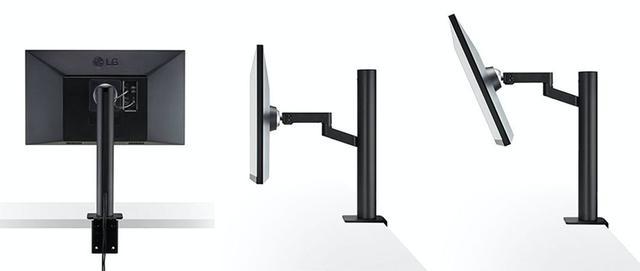 画像: LGが、アームスタンド式27インチモニター「27UN880-B」を5月中旬に発売。USB Type-C搭載でデータの転送と充電も可能。画面位置も自在に調整できる