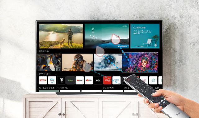画像: LGテレビの魅力のひとつは、プレゼンテーション時に使うレーザーポインターのような感覚で操作できるマジックリモコンが挙げられる。ユーザーインターフェイスも昨年の世代から変更され、下方向と右方向のスクロールを組み合わせて、スムーズな操作を実現したという