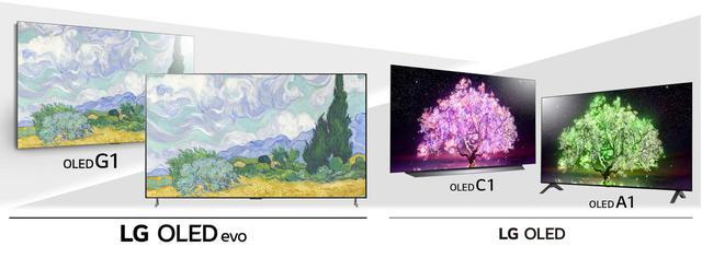 画像: LGの4K有機ELテレビの2021年モデルは、OLED G1シリーズ(65インチ/55インチ)のみ「OLED evo」パネルを搭載。それ以外のシリーズは既存のOLEDパネルを採用している