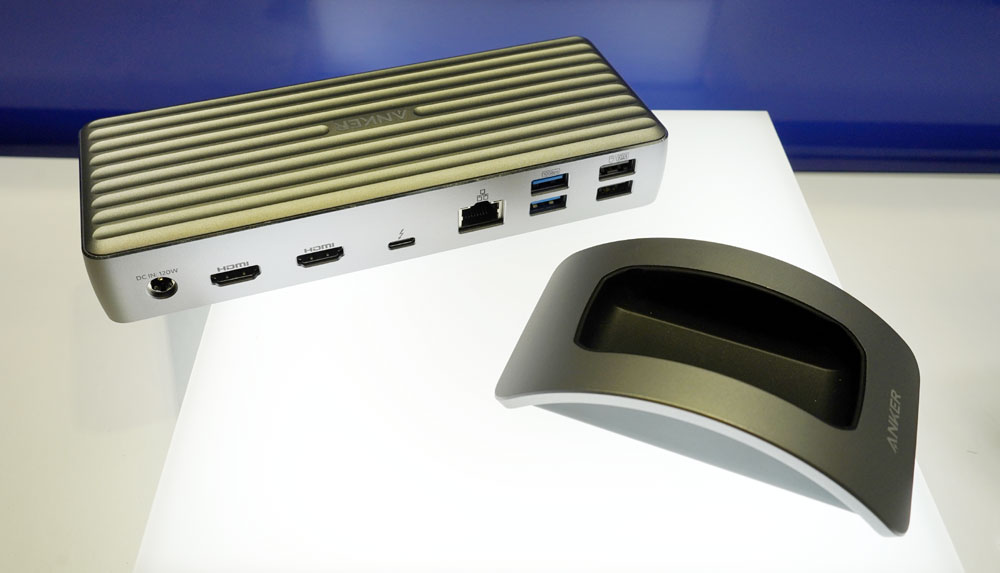 画像: ▲Thunderboltを4ポート備えたドッキングステーション「PowerExpand Elite 12-in-1 Thunderbolt 4 dock」。秋発売で¥34,990