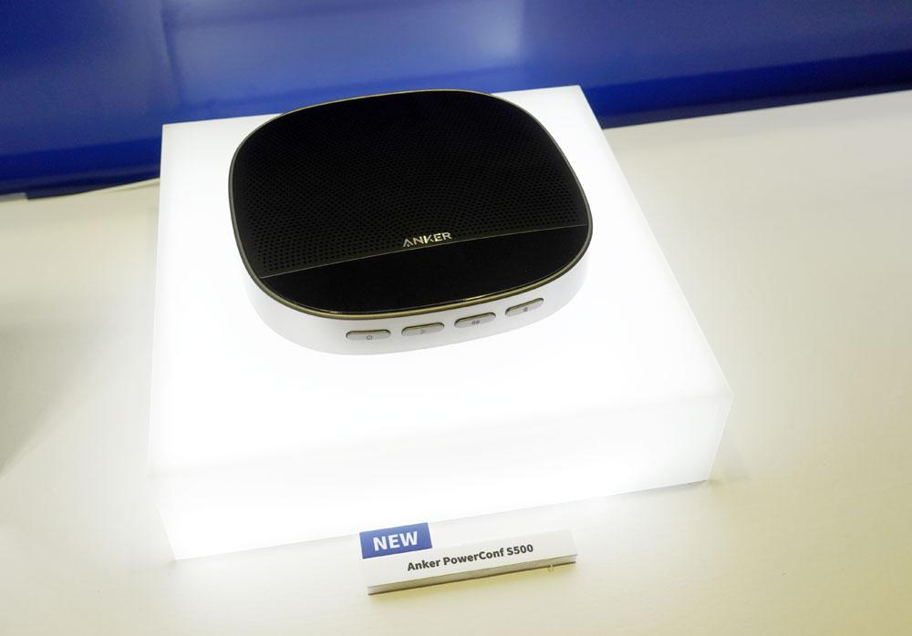 画像: ▲オンライン会議に便利なスピーカーホン「PowerConf S500」。Bluetooth対応で、パソコンとは付属の専用USBドングルで接続するので、接続安定性も高いのが特徴。8月上旬発売で¥24,980。