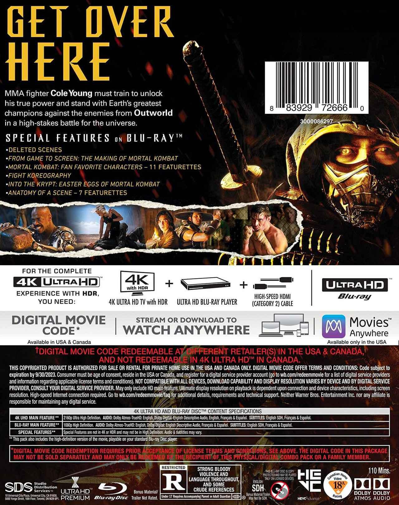 画像2: 人気ゲームの映画化『モータルコンバット』【海外盤Blu-ray発売情報】