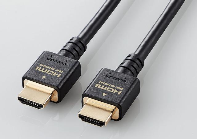 画像1: エレコムの、8K・4K対応ウルトラハイスピードHDMIケーブルが登場! 直径4.5mmのスリムケーブルと小型コネクターを採用した「HD21ES」シリーズは要チェック