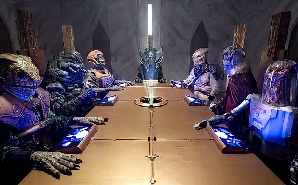 画像: 遥か宇宙の彼方で、悪魔宇宙人復活への対処を討議する面々