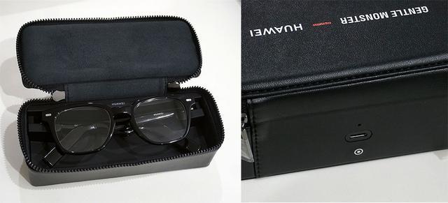 画像: メガネを付属のケースに入れ、ケース背面のUSB Type-Cコネクターに電源ケーブルをつなぐことで充電が可能。ケースは充電機能のみでバッテリーは内蔵していない