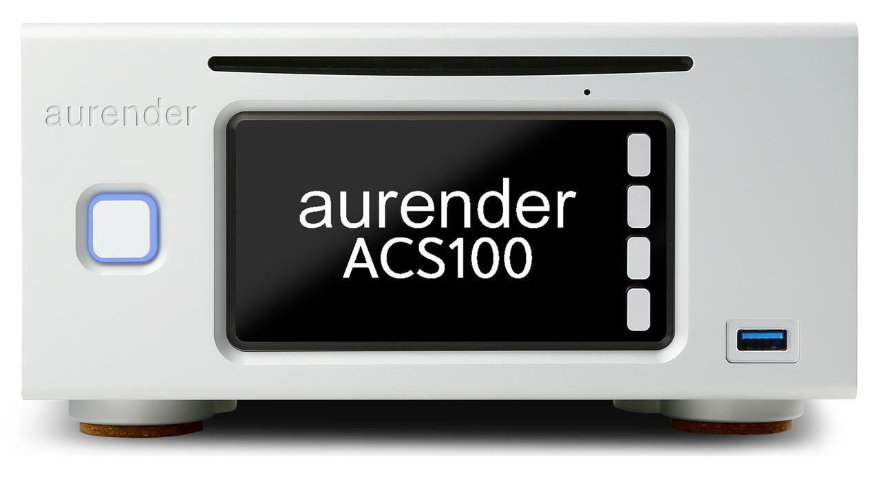 画像: ハーフサイズのACS100は¥450,000+税。楽曲保存用のストレージは別売となる。ディスクメカがスロットローディングタイプになるなどACS10との差があるものの、機能面ではほぼ同等。CDリッピングからファイル管理、再生までを1台で完結できる