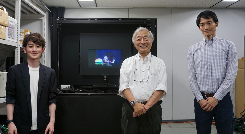 画像: ●取材に対応いただいた方々 日本放送協会 放送技術研究所 空間表現メディア研究部の大村拓也さん(左)と加納正規さん(右)