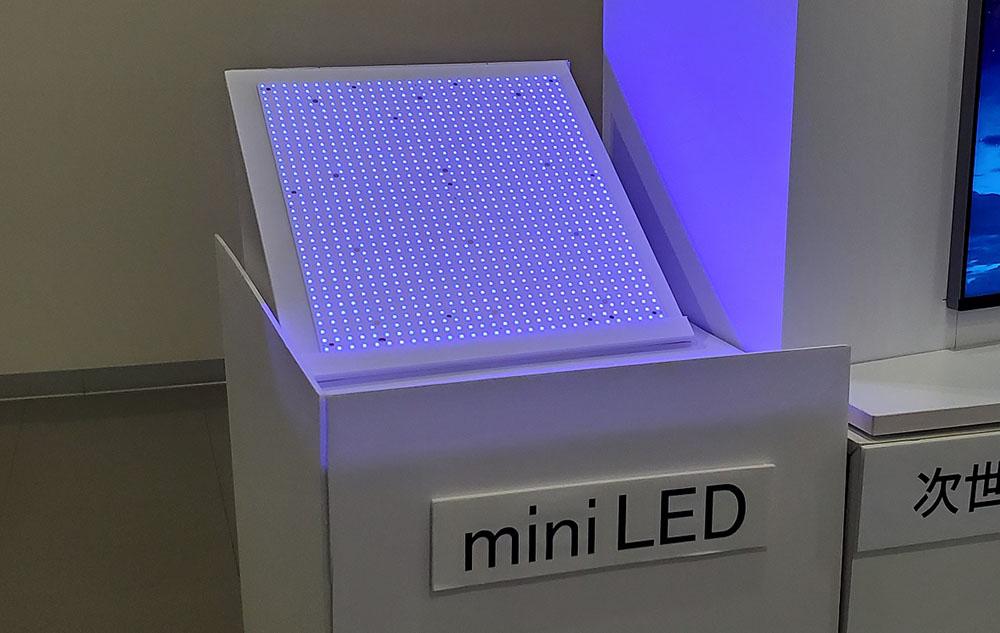画像: バックライトに使われているmini LEDのサンプル
